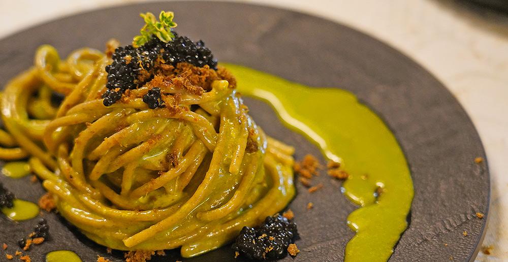 Chef del Dream Team - fish&chef - Matteo Felter spaghetti integrali e tartufo
