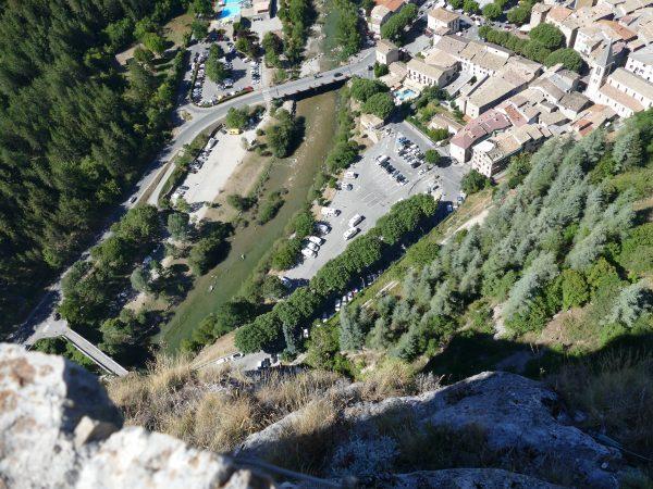 Castellane et le Verdon vus depuis le Roc