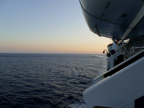 la Sardaigne depuis le ferry