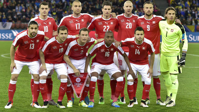 team photo for Switzerland