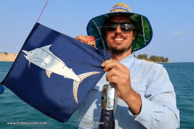 A Bazaruto Black and Blue marlin released for Craig on his trip over from Oz