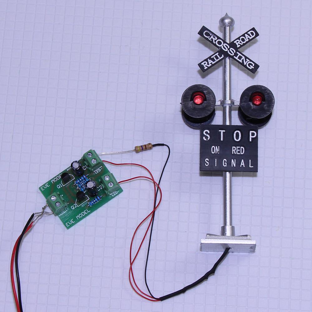 Simple Flashing Led Circuit Model Railroad Flashing Light Circuit 1