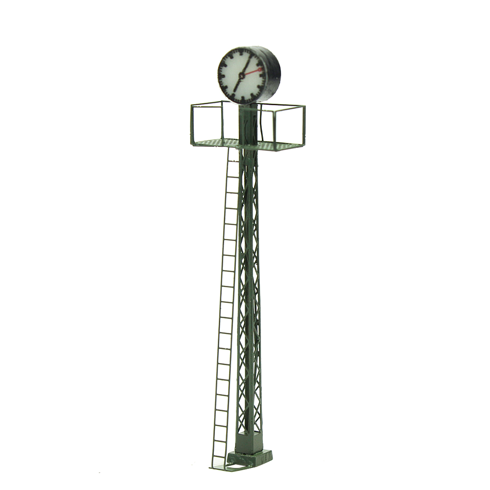 LQS61HO07 1pc Model Railway lights Lit Platform Clock on