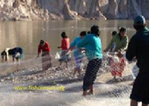 Bolivia River fishery