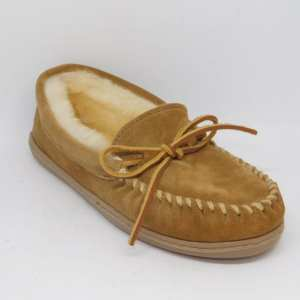 womens slippers sheepskin hardsole tan 3341