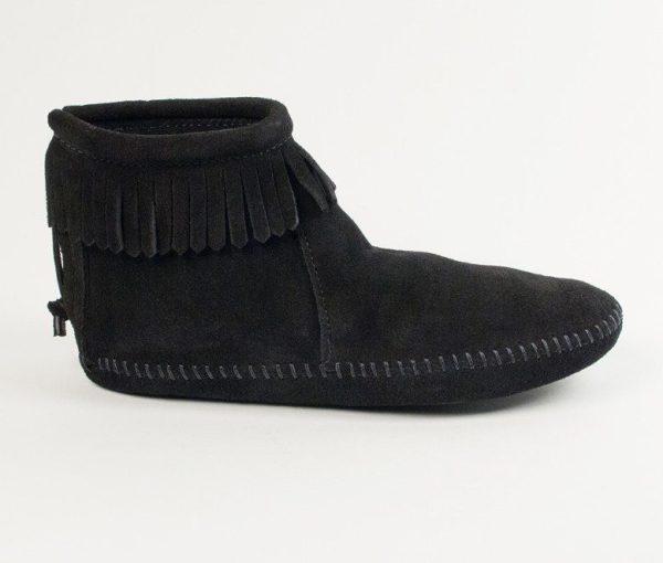 womens boots back zip softsole black 189
