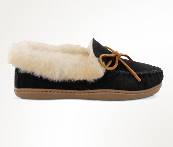 womens slippers alpine sheepskin black 3370