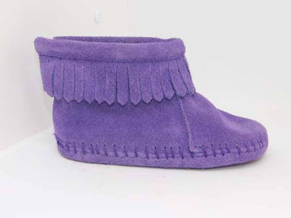 back flap bootie purple