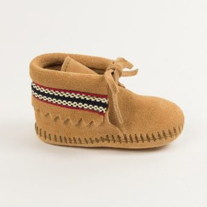 infants boots braid tan 1101