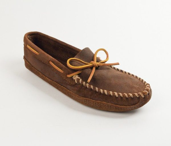 mens mocs double bottom softsole brown 723