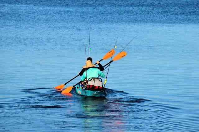 Kayak telescopic rods
