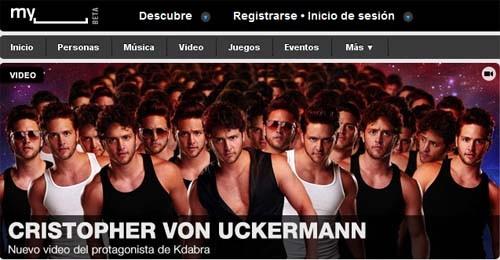 Nuevo diseño de la página de inicio de MySpace