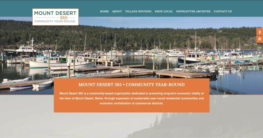 mountdesert365.org homepage
