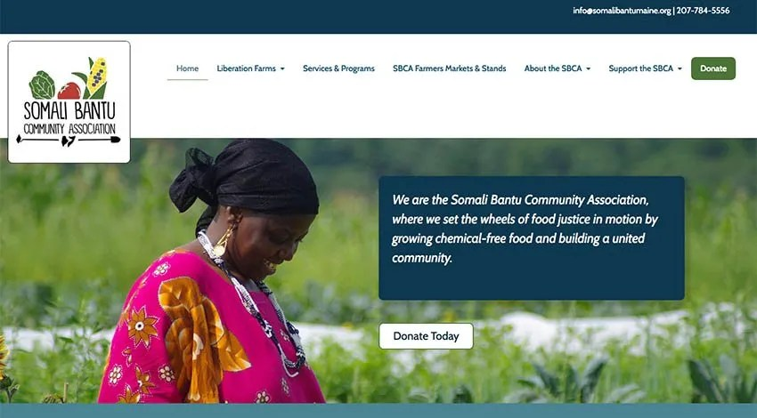 The Somali Bantu Community Association Website