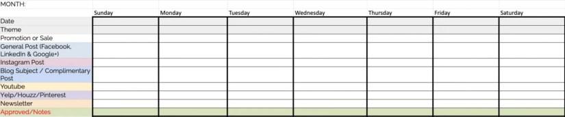 Strategic Social Media Content Calendar