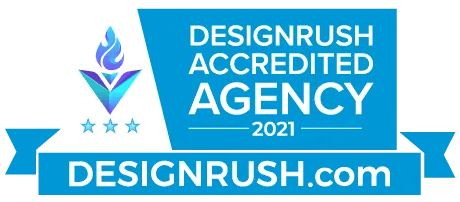 graphic of Design Rush Accredited Agency