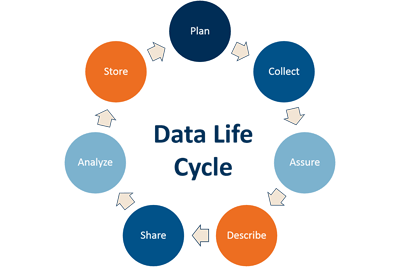 The data life cycle. Credit: Image created by JMD, 2015.