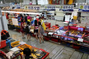 One of the highlights of Busan for many attendees was a visit to Jagalchi Market and its live fish market.