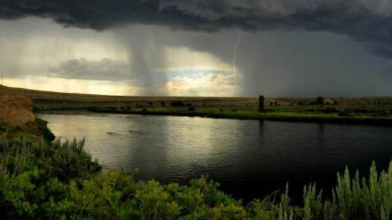 Storm over a river in Seedskadee National Wildlife Refuge