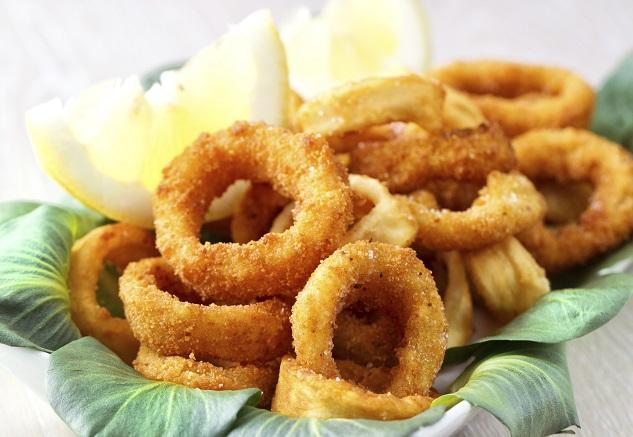 Fried calamari and shrimp