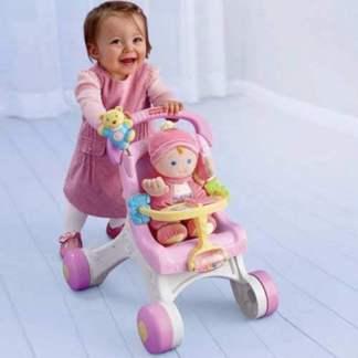 Ходилка-коляска для кукол «Бриллиантовые основы» Fisher-Price на прокат Минск