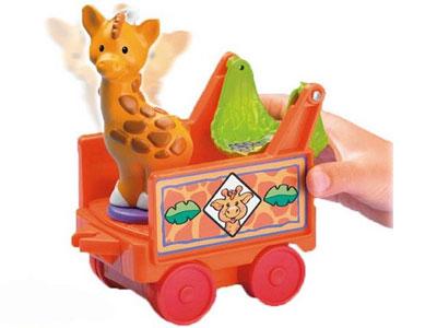 Музыкальный поезд Зоопарк из серии Маленькие человечки Fisher-Price прокат
