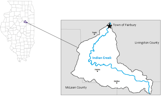 Indian Creek is a tributary of the Vermilion River and the Illinois River.