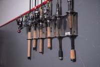 Wall Mount Rod Rack  6 Rod Holder | Fish Fighter Products