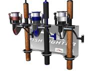 Wall Mount Rod Rack  3 Rod Holder | Fish Fighter Products