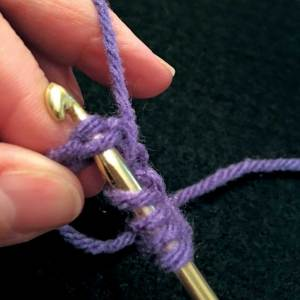Insert hook into 6th chain