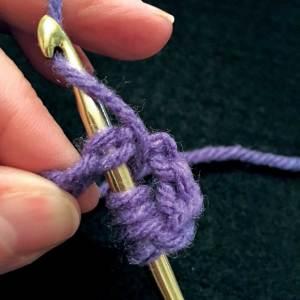 Yarn over hook