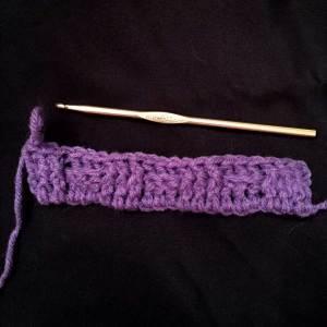 A row of basket weave stitch