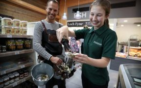 LOCH FYNE OYSTERS INNOVATIVE PARTNERSHIP WITH DOBBIES