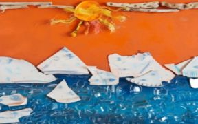 ARTWORK CREATED FROM MARINE PLASTIC