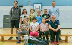 Badminton club makes a racket