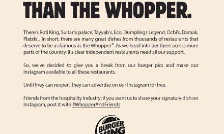Burger King UK gives over Instagram account to support independent restaurants in tier three