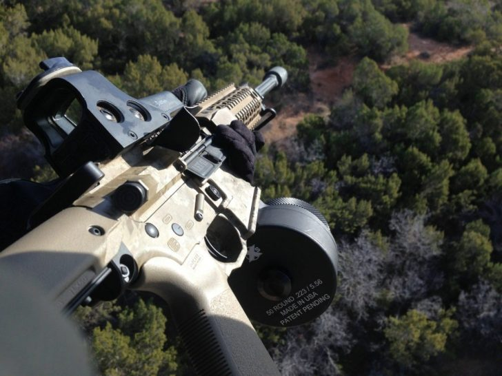 Black Rain Rifle with Noveske Pig Muzzle Device, EOTech and X Products 50 round drum magazine