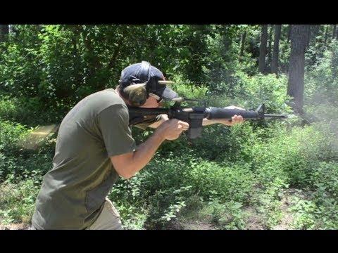 Full Auto .458 SOCOM M16 Mag Dump!  [video]