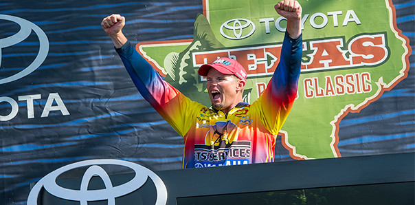 Keith Combs world record holder and winner of the 2014 Toyota Bass Classic