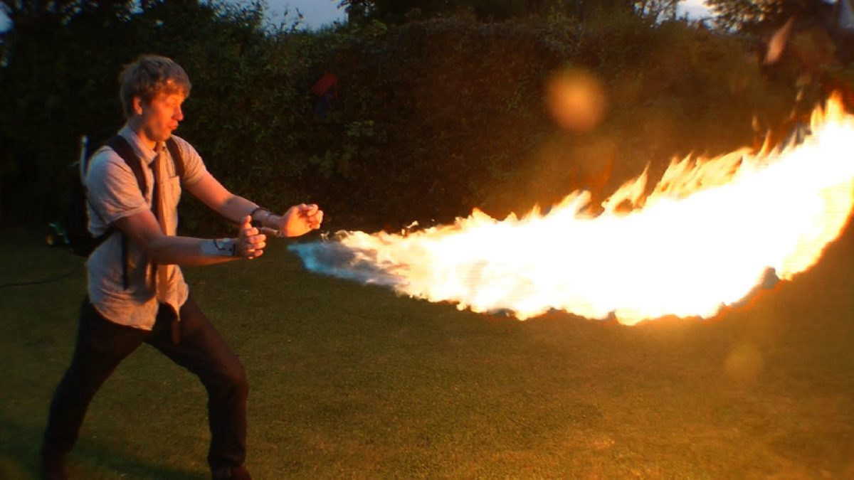 Home Made Wrist Mounted Flamethrower
