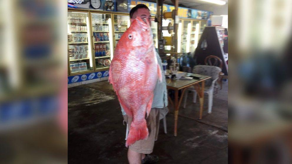 Record-Breaking Red Snapper Caught Off the Coast of Texas