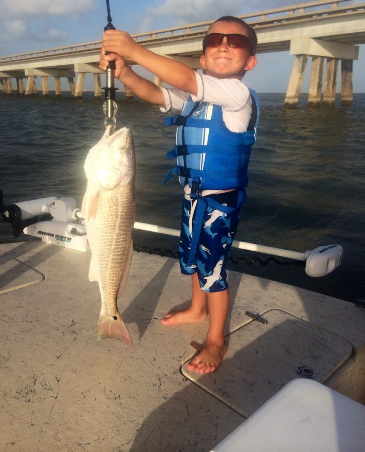 First time fishing the bay made his day texas fish for Texas saltwater fishing magazine