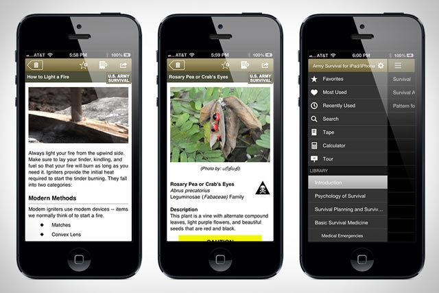 Army Survival, a handy U.S. Army Field Manual 21-76 iPhone app