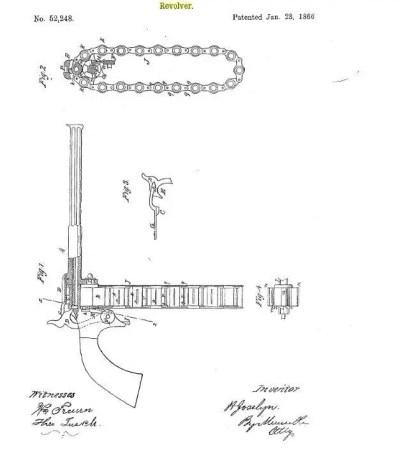 Josselyn Chain Pistol Patent