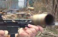 Full Auto 9mm M16 Brass Chunker! [VIDEO]