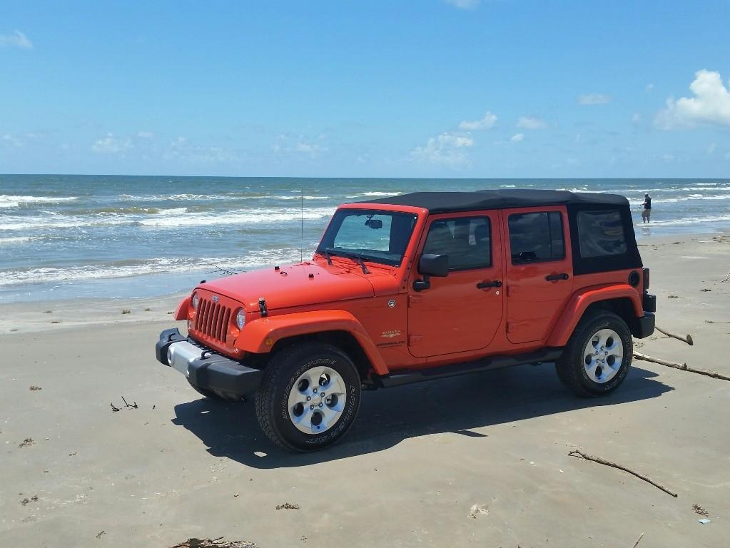 2015 Jeep Unlimited at Galveston Island