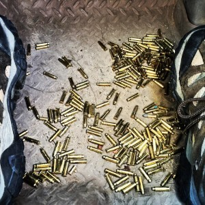 Lots of targets, lots of rounds fired, lots of casings.
