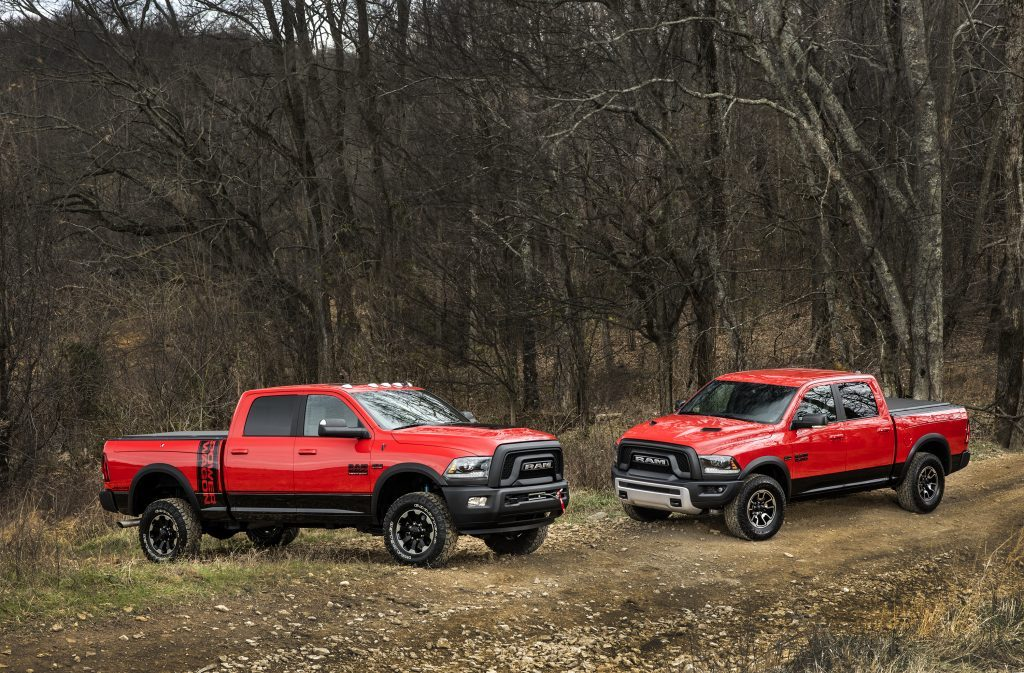 2017 Ram Power Wagon Crew Cab 4x4 (left) and 2017 Ram Rebel Crew