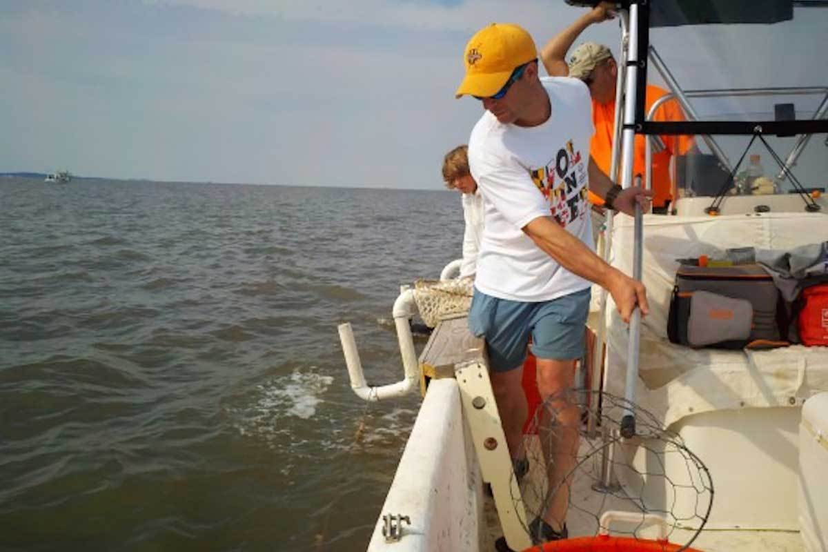 Strange Fun on a Boat: Trot-Line for Crabs