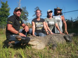 Back in May, I accompanied their crew on an alligator rescue at the Sunoco Plant in Nederland. It was amazing to watch them meticulously pursue the 10 foot, 8-inch alligator and bring it in alive. Pictured here are Gary and Janna Saurage and Arlie and Jessica Hammonds with that gator.